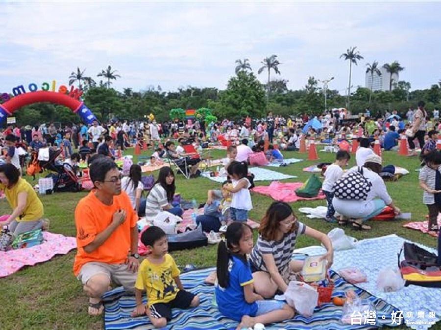 花蓮野餐日人氣夯 吸引上千位民眾共享親子時光