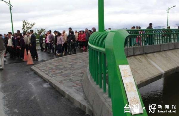 礁溪五股橋重建完工 趕上春節交通熱潮
