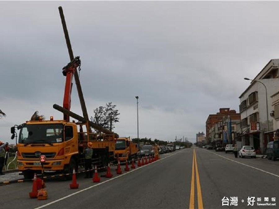 提升安全用電 美崙東興路段完成電桿地下化工程