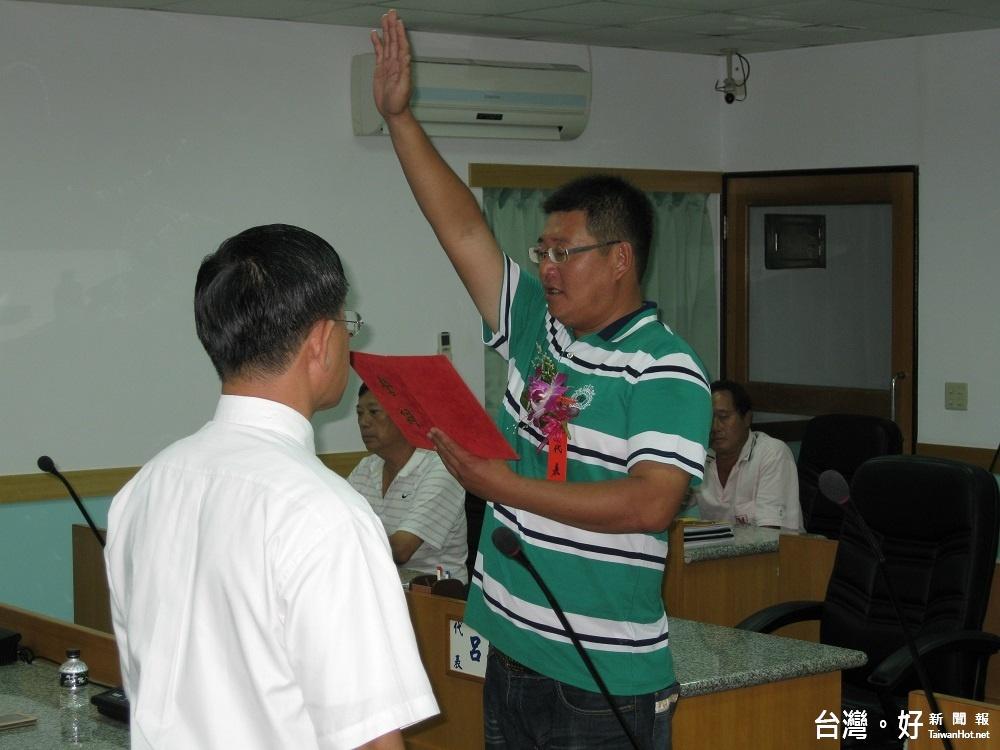 白沙鄉民代表會補選 當選代表呂建文宣誓就職