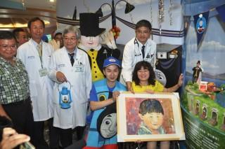 抗癌神童遺愛人間 湯瑪士、火車玩具捐贈彰基兒童醫院