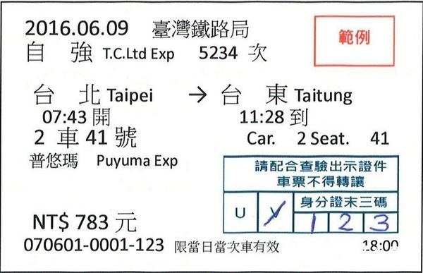 台鐵花東實名制車票 744張票半小時內售完