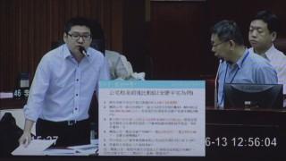 國民黨議員徐弘庭質詢台北市長柯文哲。(圖/資料照片)