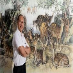 趙文雄水墨風格保有傳統筆趣墨韻,並承襲嶺南派彩墨特色。
