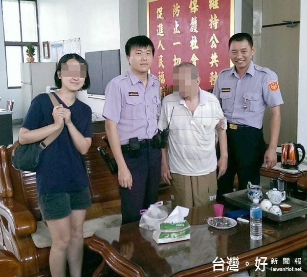 身障翁不耐酷暑倒臥路邊 警獲報協助送醫返家
