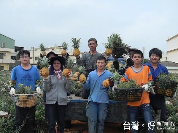 蔡佑安醫檢師帶領的青農團隊