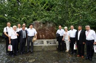 日月潭、日本濱名湖結盟,參與儀式貴賓造訪九族。