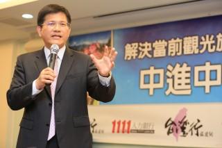 台中市長林佳龍十分支持陳盛山局長「中進中出」的觀光發展方向。