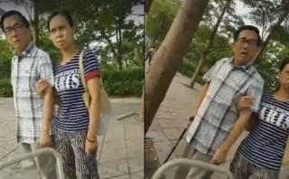 前總統陳水扁昨(29)日在自家附近散步時遭人偷拍,氣得健步如飛上前當街訓斥。(圖/翻攝自白色正義聯盟臉書專頁)