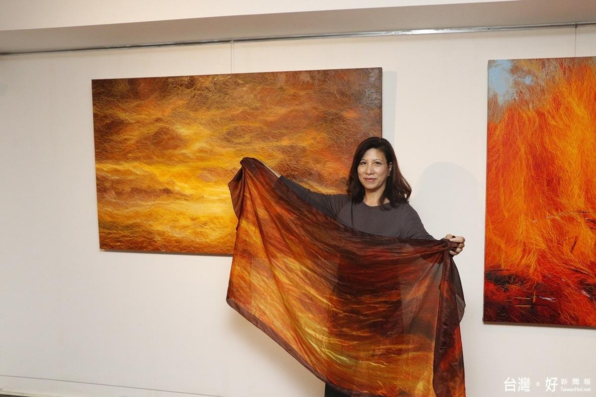 鄭麗雲藝術個展 創作主軸來自地、氣、水、火
