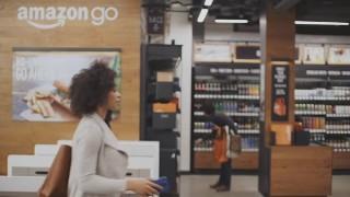 Amazon想在2017年於美國西雅圖開設一間實體自助超市Amazon Go,並以主打全自助購物、免現場結帳的特點,挑戰傳統超市、超商等零售店,企圖帶起未來零售業的發展趨勢。(圖/Amazon YouTube)