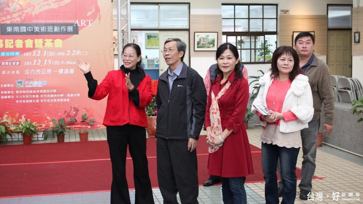 花園城市在斗六創作展 邀東南國中美術班揮灑理念
