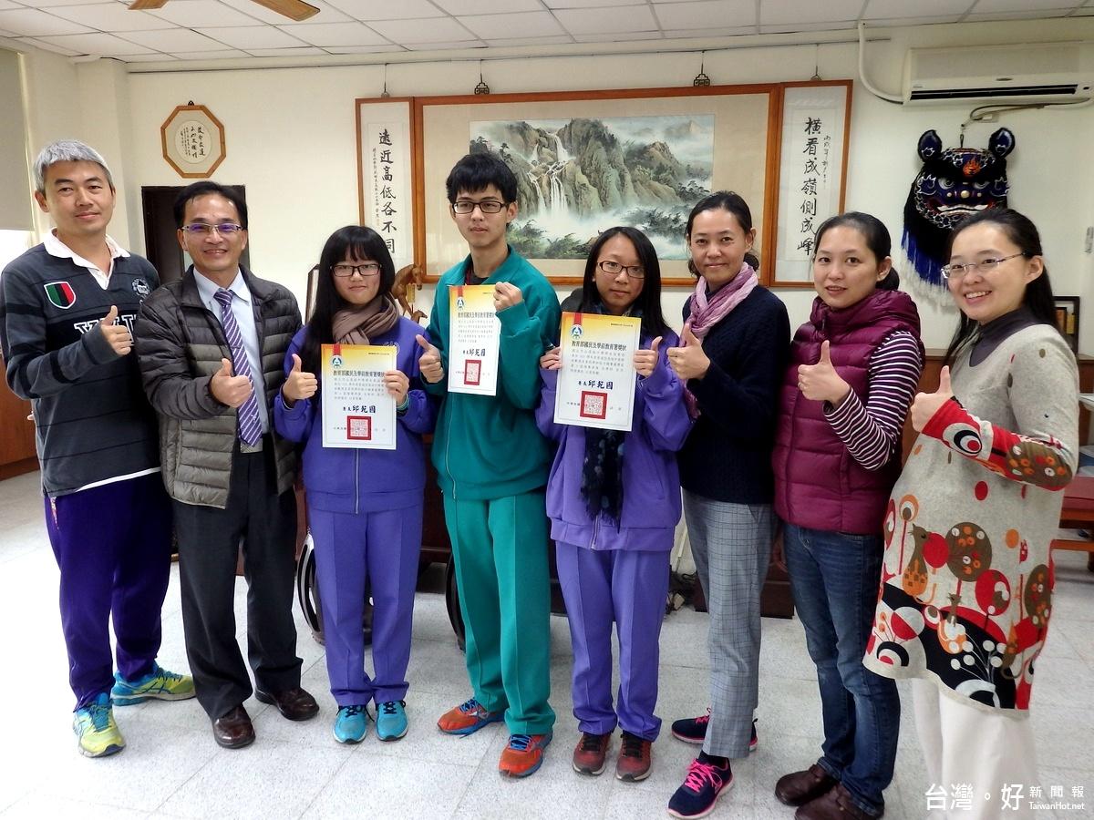 高中數理學科能力競賽 竹山高中3「佳作」創紀錄