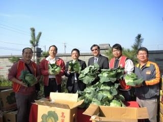 農糧署為弱勢團體加菜 贈高麗菜3萬5名民眾免費享用