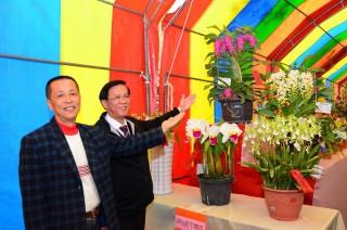 林縣長及魏榮泰理事長邀民眾春節來草屯賞花南投看燈。