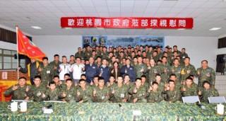 鄭市長:代表市民感謝國軍保家衛國的辛勞 。