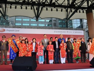 市長朱立倫出席「喜『越』迎新春-越南朋友回娘家」活動,感謝越南朋友對新北市的付出與貢獻。(圖/記者黃村杉攝)