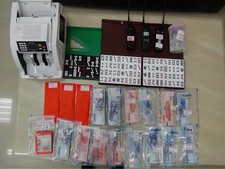 烏日警分局查獲賭場大量現金。林重鎣攝