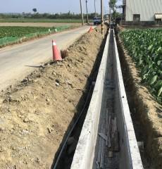 目前北新化小排3-3工程的主體結構已完成,待3-4工程施作結束,將可提升農田排水渠道功能。