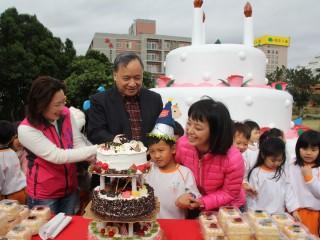 主打生日慶生主題,台東美術館兒童公園遊戲器材新建啟用。