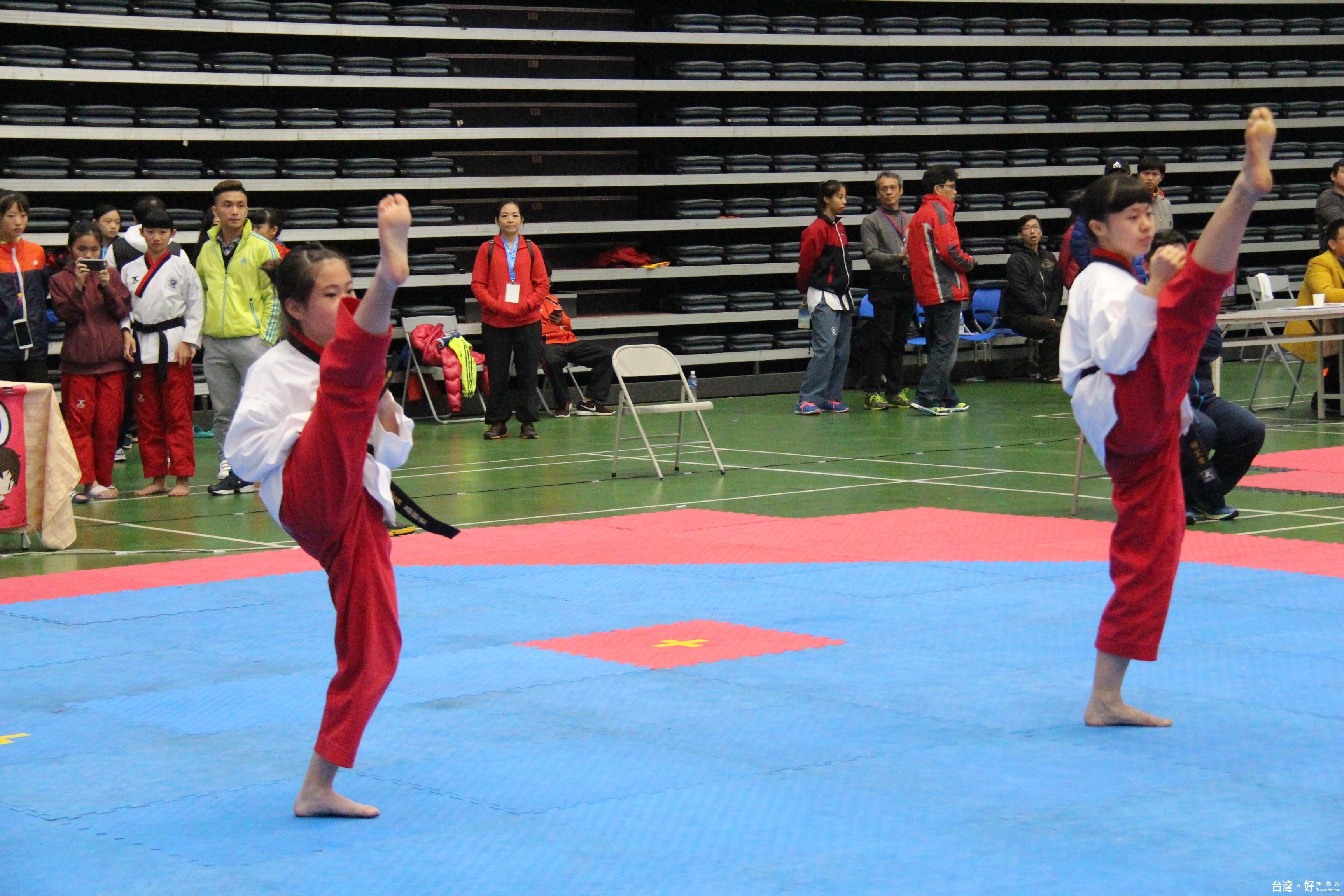 全國中小學跆拳道錦標賽 1800位好手參與競技
