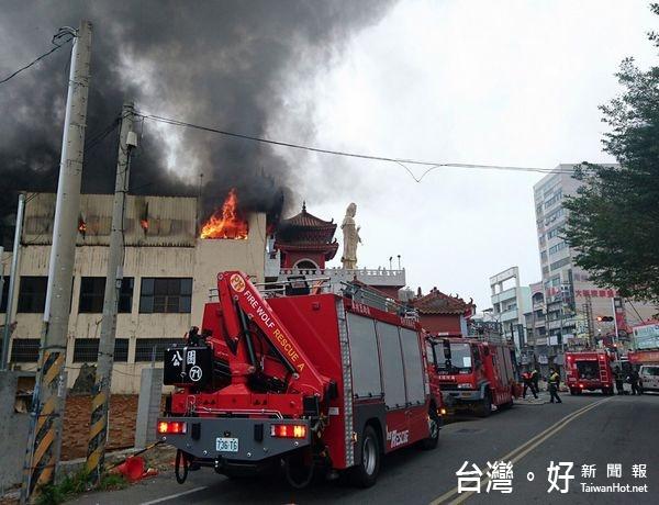 斗六永福寺遭祝融 火勢30分撲滅無人傷亡