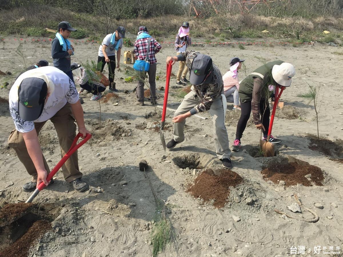 串連濁水溪畔保護綠帶 0.6公頃被占用地收回種植多層次保安林
