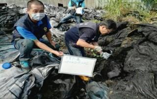 東佶環保公司以合法掩護非法,收受事業廢棄物堆置掩埋,破壞國土、污染環境,遭雲地檢起訴。(記者陳昭宗拍攝)