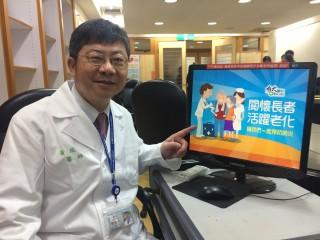 黃瑞仁院長說,台灣已邁入高齡社會,關懷長者活躍老化預防肺炎,讓我們一起來預防鏈球菌感染。(記者陳昭宗攝)