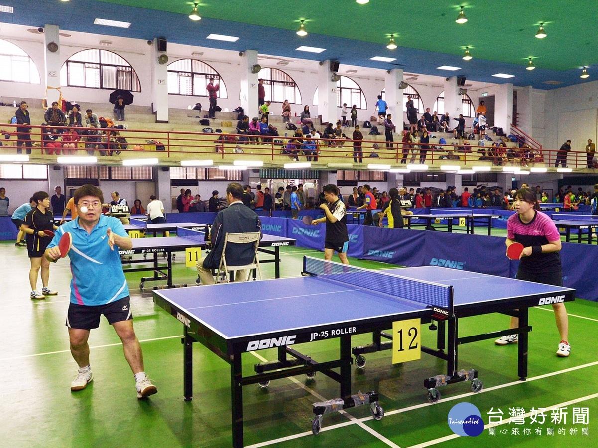 平鎮桌球聯誼邀請賽 32隊300位選手參加