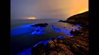 每年4月至10月是馬祖「藍眼淚」盛行時節,因此不少遊客也會前往馬祖,欣賞湛藍的夜海奇景。(圖/YouTube藍眼淚)
