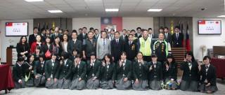 松川中學參訪鹿港鎮代會與鎮民代表們合影。
