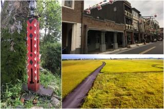 探訪噶瑪蘭故事、利澤老街(蕭文樺攝),以及田野好風光(荒野王俊明提供),深遊五結樂趣多。