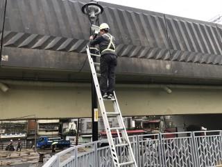 第二批監視器已完成建置,將有效嚇阻高灘地犯罪,減少治安死角。(圖/高管處提供)