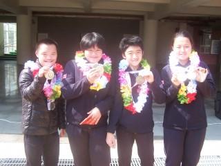 苗栗特殊教育學校四名學生奪得冬奧四金一銀二銅佳績。(記者許素蘭/攝)