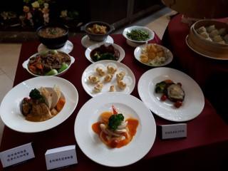 兆品酒店苗栗8週年慶推出全新菜色。(記者許素蘭/攝)