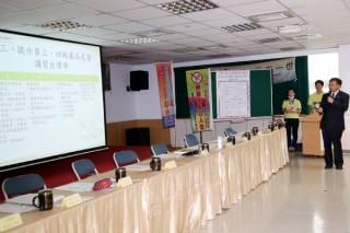 台南市衛生局長陳怡親自簡報。