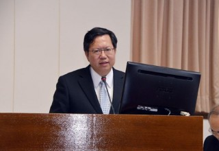桃園市長鄭文燦前往立法院,出席「前瞻基礎建設計畫」軌道建設公聽會。