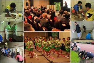 台灣美化協會2017年會在礁溪舉行,台日雙方大小朋友滿懷謙卑清掃學會。(圖/記者陳木隆攝)