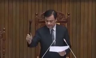 立法院長蘇嘉全8日到台中出席活動時表示,已要求行政院增加少子化、食安等項目預算。(圖/翻攝網路)