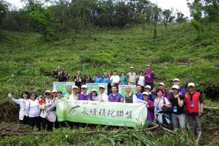 永續精銳聯盟發動企業認養造林。(圖/羅東林管處提供)