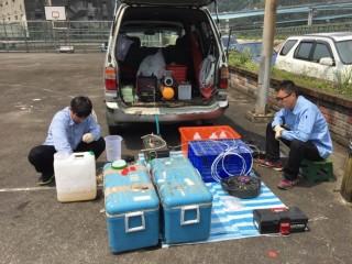 地下水檢測(圖/基隆市政府水質及土壤防治科提供)