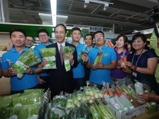 板橋果菜批發市場開幕 首創採用「無現金電子交易」(圖/記者黃村杉攝)