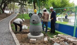 板橋石雕公園新風貌,12生肖廊道6月與大家見面。(圖/板橋區公所)