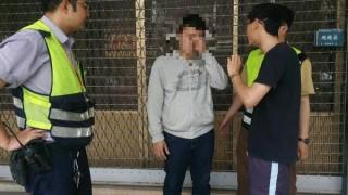 民眾配合警方成功攔阻詐騙集團取款,逮捕車手並循線偵查。(記者陳昭宗拍攝)