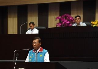 南投縣長林明溱向議會進行施政總報告。