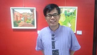 南開科大張英彬教授和「如晤、初心」油畫創作展所展出的作品。