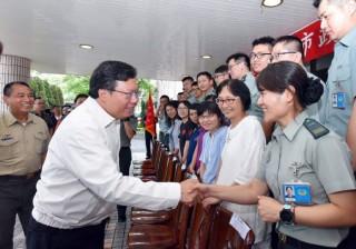 市長鄭文燦感謝國軍及後備弟兄的辛勞。