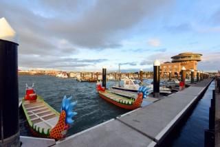 「2017桃園市市長盃海上龍舟競賽」共有46支隊伍參賽。