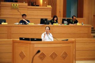 張花冠議會中提「蛋黃蛋白論」 強調「縣市合併」的重要性